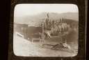 Peachtree Mound (Ce 1), Peachtree Mound Field Crew (From Lantern Slide, Coe Papers), Cherokee Co., North Carolina, United States (RLA image 22921.jpg)