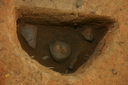Nassaw-Weyapee (SoC 643), Feature 58, South Half, Zone 1 Excavated, Close-Up, York Co., South Carolina, United States (RLA image D10209.jpg)