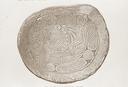T. F. Nelson Mound (Cw 1), Engraved Gorget, Nelson Triangle (Thomas 1894:Fig. 213), Caldwell Co., North Carolina, United States (RLA image 22919.jpg)