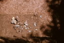 Hardaway Site (St 4), Cluster of Rocks and Chipped-Stone Artifacts on Pedestal, Stanly Co., North Carolina, United States (RLA image 22701.jpg)